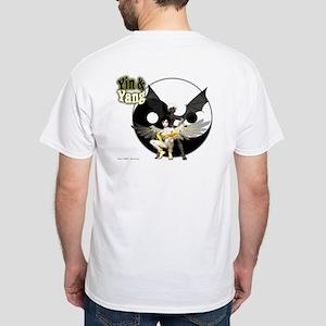 Yin & Yang, Wicked Cute White T-Shirt