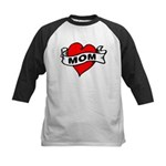 I LOVE MOM Kids Baseball Jersey