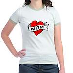I LOVE MOM Jr. Ringer T-Shirt
