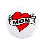 """I LOVE MOM 3.5"""" Button (100 pack)"""