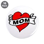 """I LOVE MOM 3.5"""" Button (10 pack)"""