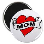 """I LOVE MOM 2.25"""" Magnet (100 pack)"""