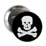 Skull and Crossed Bones Button