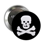 Skull and Crossed Bones Button