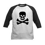 Skull and Crossed Bones Kids Baseball Jersey