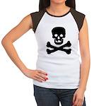 Skull and Crossed Bones Women's Cap Sleeve T-Shirt
