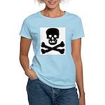 Skull and Crossed Bones Women's Pink T-Shirt