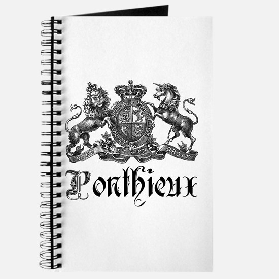 Ponthieux Last Name Family Crest Journal