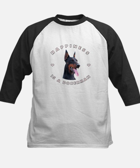 Happiness is a Doberman! Kids Baseball Jersey