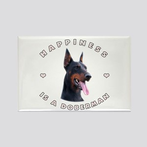 Happiness is a Doberman! Rectangle Magnet