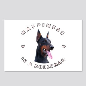Happiness is a Doberman! Postcards (Package of 8)
