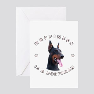 Happiness is a Doberman! Greeting Card