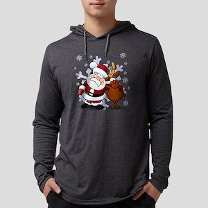 Santa, Rudolph Christmas Long Sleeve T-Shirt