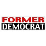 Former Democrat Bumper Sticker (10 pk)
