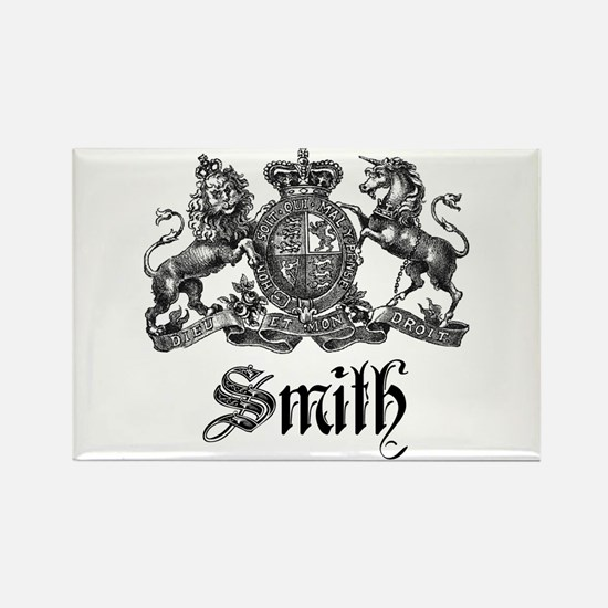 Smith Family Name Crest Rectangle Magnet