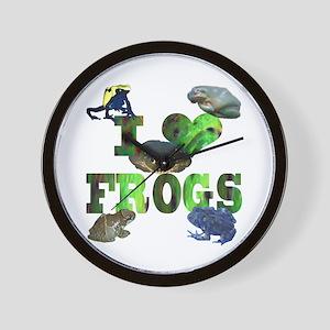 heart frogs Wall Clock