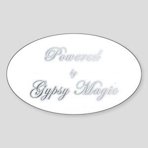 Powered by Gypsy Magic Oval Sticker
