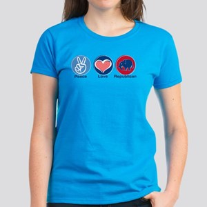Peace Love Republican Women's Dark T-Shirt