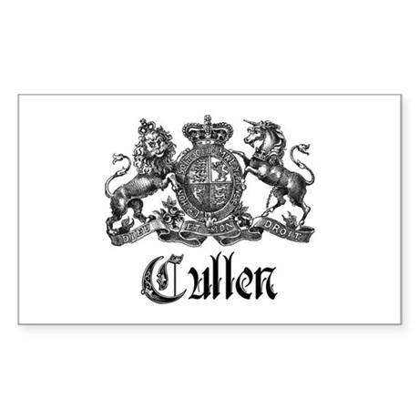 Cullen Family Name Crest Rectangle Sticker