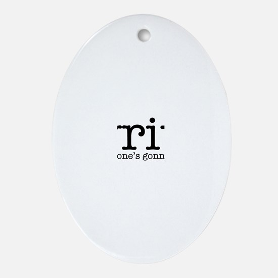 Writing Life Oval Ornament