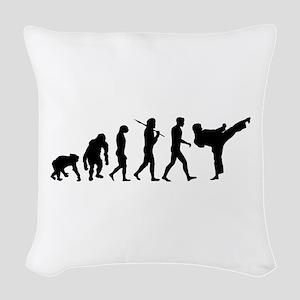 Martial Arts Evolution Woven Throw Pillow