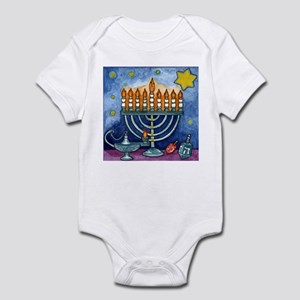 Menorah Cartoon Infant Bodysuit