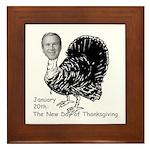 New Turkey Day Framed Tile