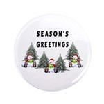 "Christmas Greetings 3.5"" Button (100 pack)"