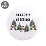 "Christmas Greetings 3.5"" Button (10 pack)"
