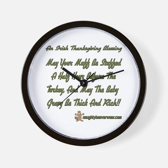 Irish Thanksgiving Blessing Wall Clock