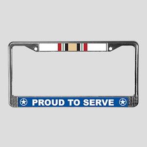Iraq Campaign License Plate Frame