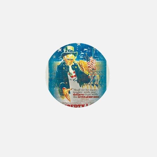 Uncle Sam Liberty Loan Mini Button