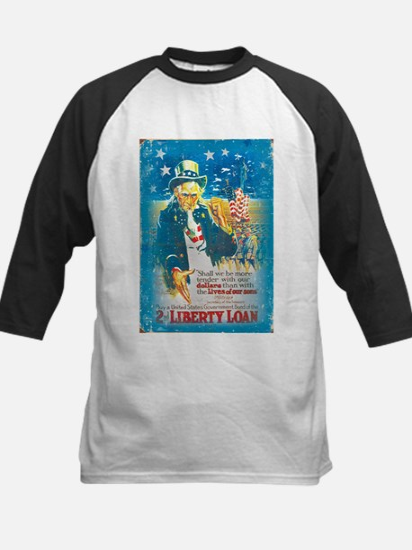 Uncle Sam Liberty Loan Kids Baseball Jersey