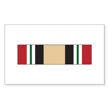 Iraq Campaign Rectangle Sticker