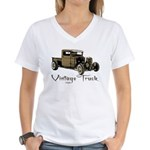 Vintage Truck- Women's V-Neck T-Shirt