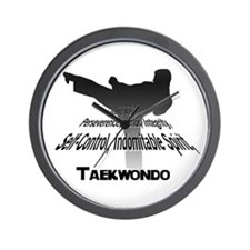 Taekwondo Tenets Wall Clock