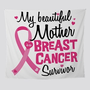 Mother Breast Cancer Wall Tapestry