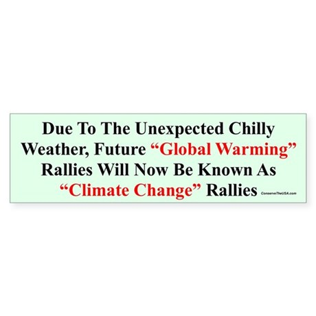 """""""Chilly Global Warming"""" Bumper Sticker"""