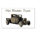 Hot Roddin Truck- Rectangle Sticker