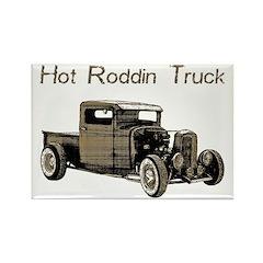 Hot Roddin Truck- Rectangle Magnet
