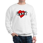 "Vintage Tattoo ""I Love Dad!"" Sweatshirt"