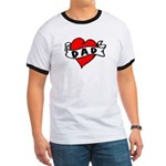 "Vintage Tattoo ""I Love Dad!"" Ringer T"