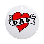 "Vintage Tattoo ""Dad"" Christmas Ornament"