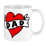 "Vintage Tattoo ""I Love Dad!"" Mug"