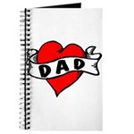 "Vintage Tattoo ""I Love Dad!"" Journal"