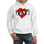 "Vintage Tattoo ""I love Dad"" Hooded Sweat"