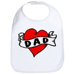 "Vintage Tattoo ""Dad"" Baby Bib"