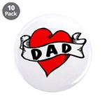 "Vintage Tattoo ""Dad"" 3.5"" Button (1"