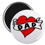 "Vintage Tattoo ""Dad"" 2.25"" Magnet ("