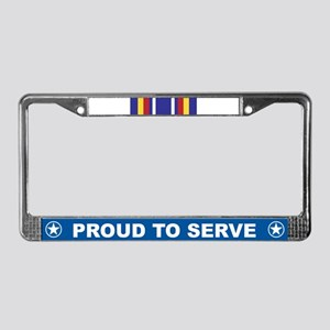 Global War Service License Plate Frame